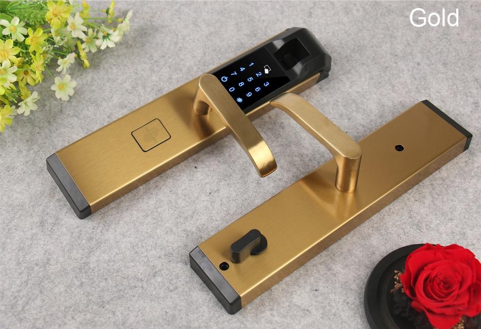 HTB1AJvGwS8YBeNkSnb4q6yevFXar RAYKUBE Biometric Fingerprint Door Lock Intelligent Electronic Lock Fingerprint Verification With Password & RFID Unlock R-FZ3