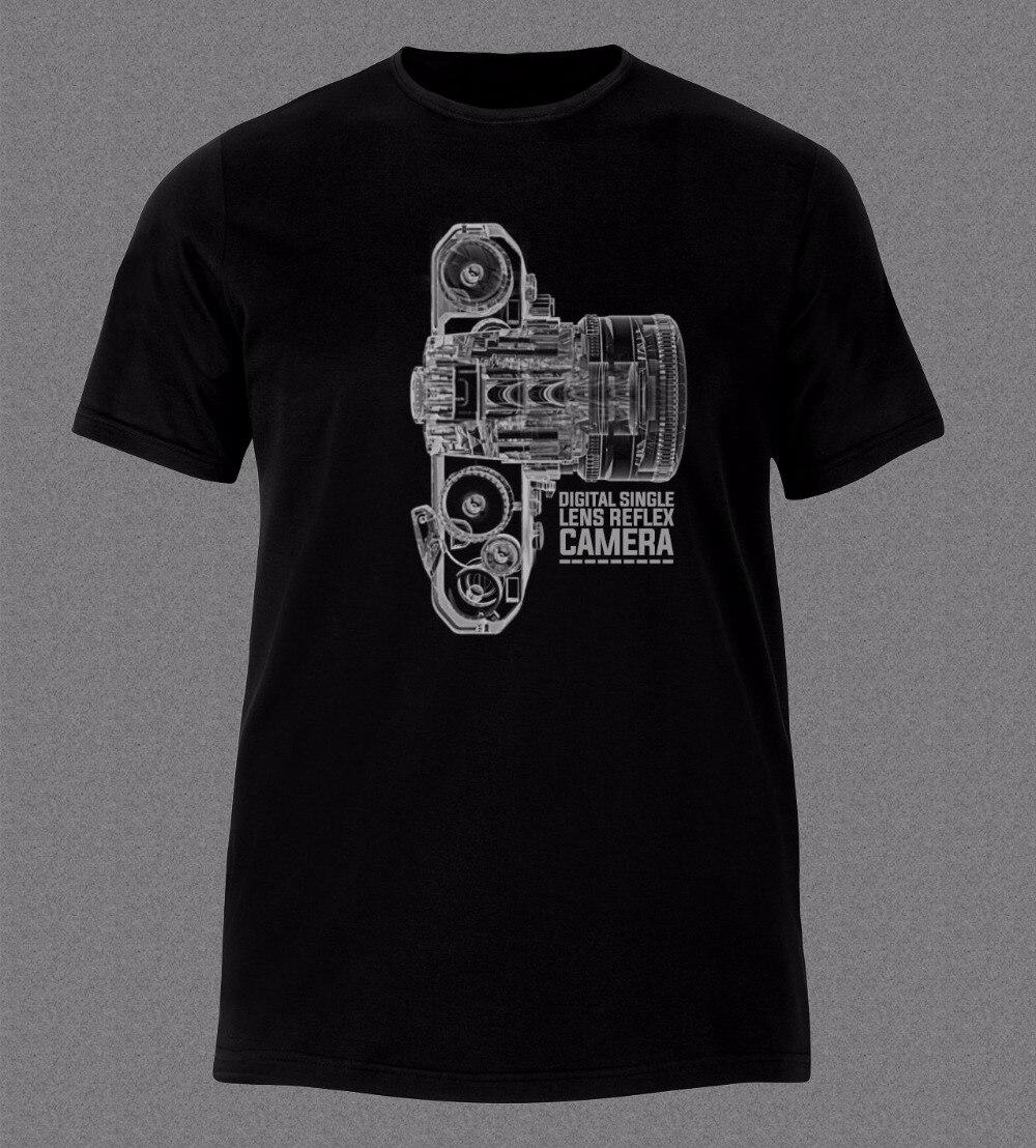 2018 Nieuwe Mode Merk Kleding 100% Katoen Korte Mouw Zomer T-Shirt Camera Dslr Technologie X Ray Photographie T-shirt Print