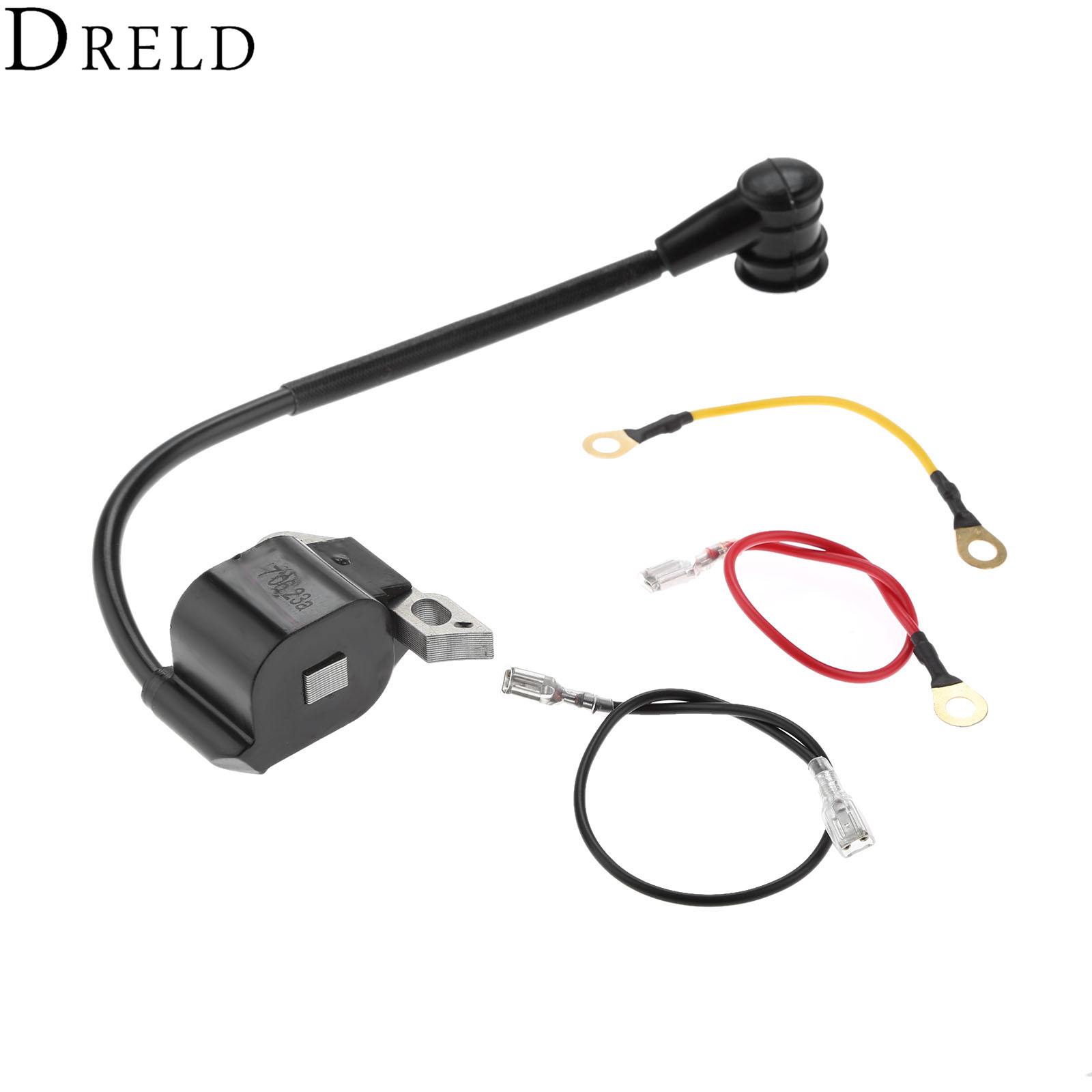 DRELD Ignition Coil With 3pcs Wire For STIHL 020 021 023 025 020T MS210 MS230 MS250 Chainsaw Parts #0000 400 1302 / 000 400 1306