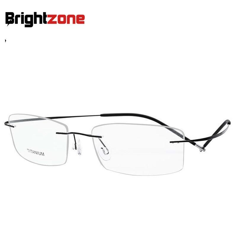 Brightzone Super-lightweight Series Men & Women B Titanium Rimless Can Change The Lens Shape When Buy Rx Lens EyeGlasses Frame