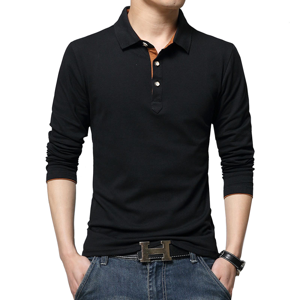 2018 New Fashion Men Polo Shirts Clothes Solid Color Slim