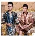 2016 зима плюс китайский мужчины вышивка дракон одежды традиционный мужской пижамы пижамы кимоно с повязки оптовая цена