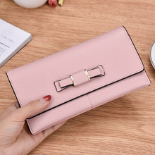 2019 PU Leather Wallet Long Wallet Women Purses Fashion Litchi Coin Purse Card Holder Wallets Female Clutch Money Bag стоимость