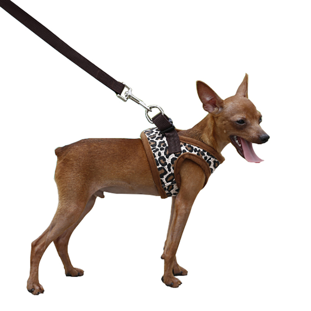 Leopard Dog Harness For Small Dogs Nylon Chihuahua Yorkie Vest