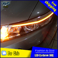 Car Styling LED DRL para Civic 2012-2015 Civic Nuevo Cejas Accesorios Lámpara de Señal Parking Luz LED Externo