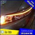 Estilo do carro LEVOU DRL para Civic 2012-2015 Civic Novo Eye Brow Luz CONDUZIU a Lâmpada de Sinal Externo Acessórios de Estacionamento