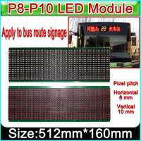 Bus route signage Red P8 P10 LED module, DIY Bus Route LED Display Banner Sign LED panel