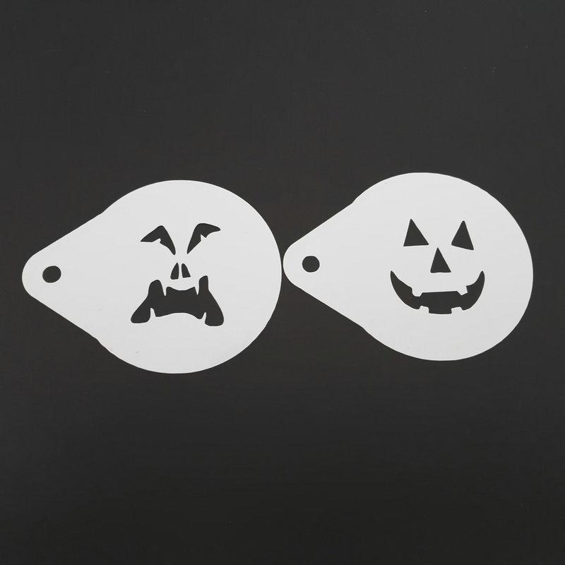 2.8 Inch Hantu Wajah Halloween Kopi Stensil Cookie Latte Art - Dapur, ruang makan, dan bar - Foto 4