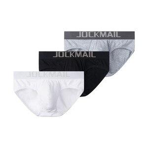 Image 2 - JOCKMAIL 3 sztuk/partia Sexy mężczyzn bielizna oddychająca nici bawełniane męskie majtki szorty bielizna dla gejów Cueca calzoncillos hombre poślizgu