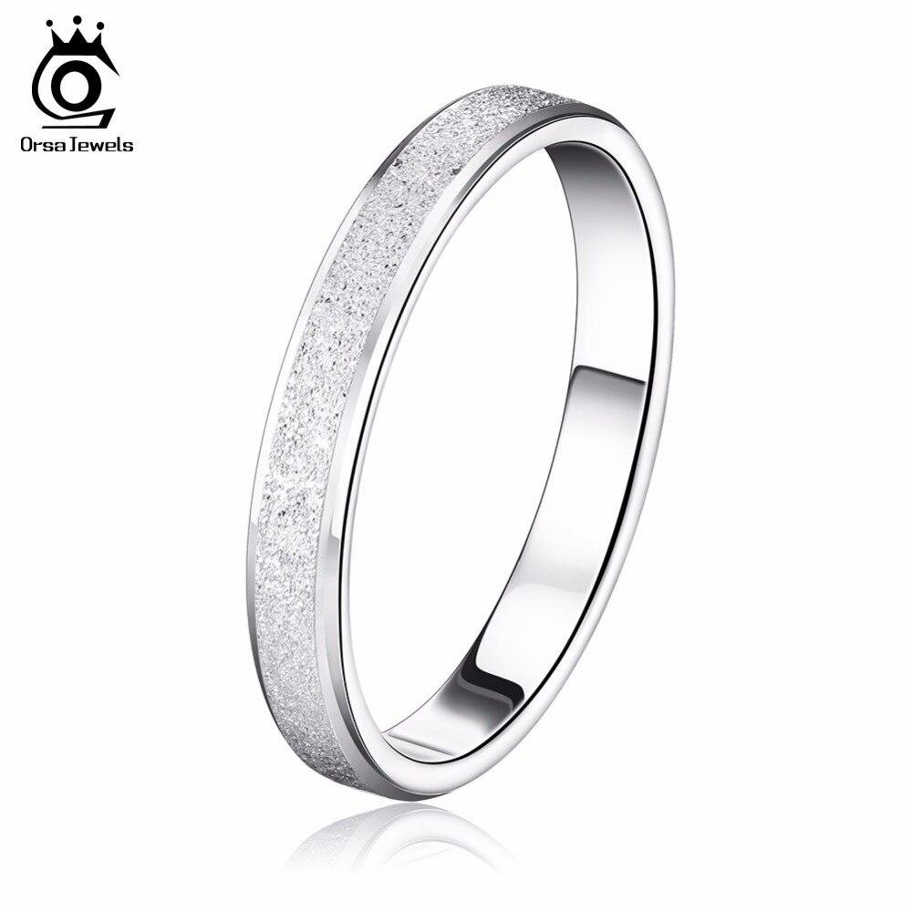 Orsa Jewels Мода 2017 г. свинца и Никель Бесплатная серебро Цвет кольцо с глазурью поверхности элегантная пара Кольца Стиль or16