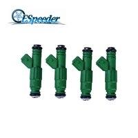 Espeeder 4ピース高流量440cc燃料噴射装置グリーンジャイアント42lb用vw audiフォードtbi