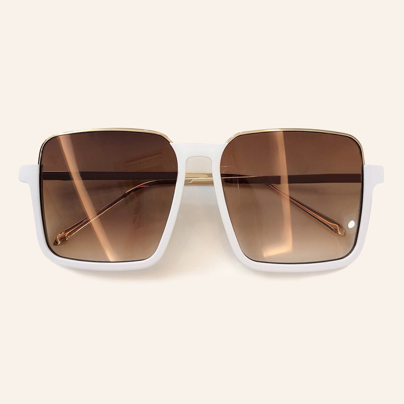 Retro Square Sunglasses Women 2019 Classic Brand Designer Oversize Sun Glasses Female Mirror Shades UV 400 Protection Eyewear