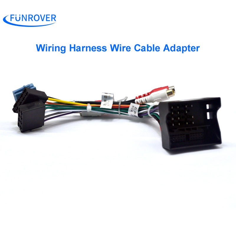 FUNROVER Car ISO Radio Plug For Volkswagen Golf Passat Skoda Seat Lead Loom Wiring Harness Wire funrover car iso radio plug for volkswagen golf passat skoda seat wire harness car stereo at n-0.co