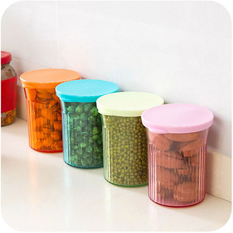 4pc Lot Food Container Kitchen Storage High Quality Cylindrical Canister Jar Sealed Cans Household Tool In Bo Bins From