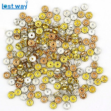Zinc Alloy With Crystal Spacer Beads Roulette Round Wheel Pattern For Jewelry Making Accessories DIY