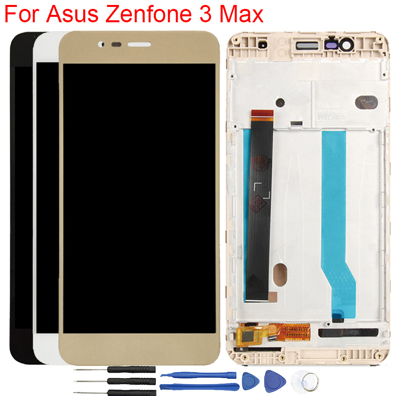 Original X008D LCD For <font><b>Asus</b></font> <font><b>Zenfone</b></font> <font><b>3</b></font> <font><b>Max</b></font> <font><b>ZC520TL</b></font> <font><b>Display</b></font> With Frame Touch Screen Assembly For <font><b>Asus</b></font> <font><b>Zenfone</b></font> <font><b>3</b></font> <font><b>Max</b></font> LCD image