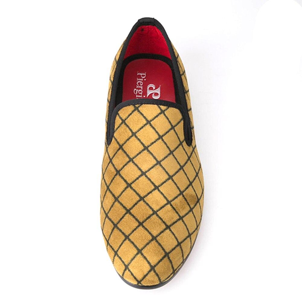 Ayakk.'ten Erkek Rahat Ayakkabılar'de Dört Renk Örgü Erkek Kadife ayakkabı Erkekler moda makosen ayakkabılar Artı Boyutu Sigara Terlik erkek Flats Boyutu ABD 4 14 ücretsiz kargo'da  Grup 3