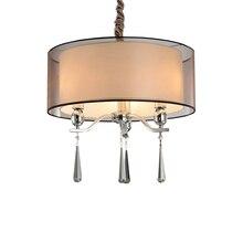 Modern Fabric Crystal Chandelier Lighting High Quality Metal Light