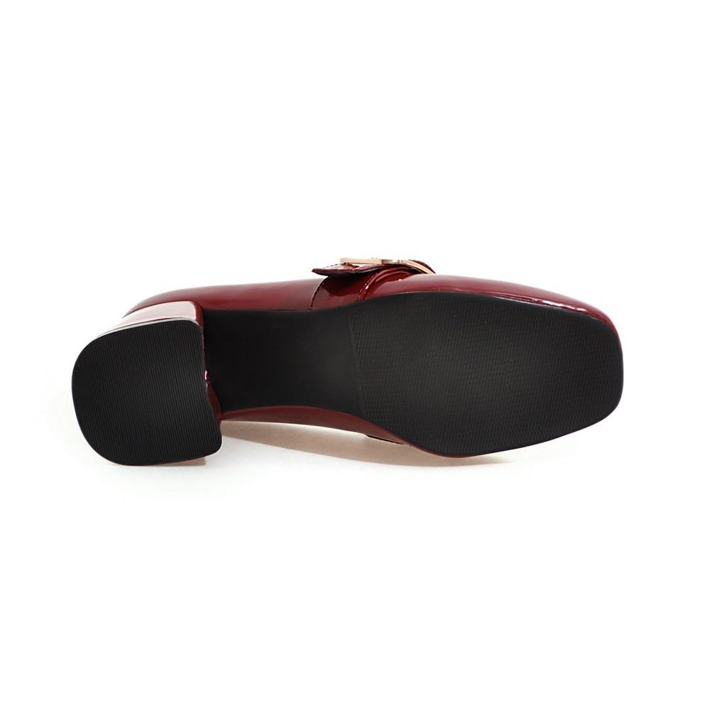 Noir 2019 Bout Rond Talon Pour Plus 43 pink Mi La 34 Grand Printemps Chaussures Tailles Taille Femmes wine Black Classique Rose Élégant Vin rv0WOv