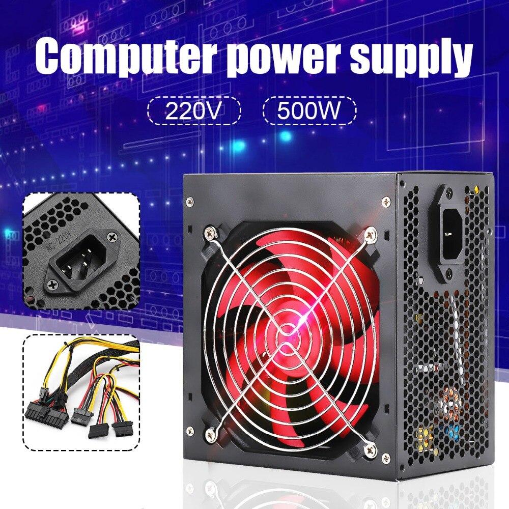 Neue ATX Power Schalt 400 watt/500 watt BTC Miner Power Versorgung Mit SATA 20PIN + 4PIN Netzteil für Miner Bergbau