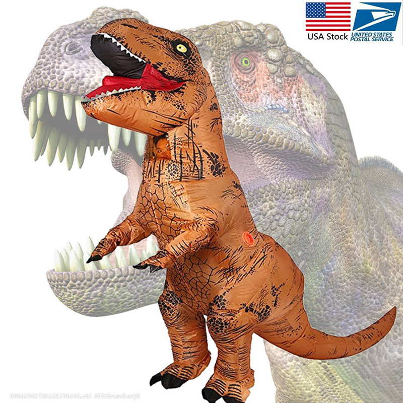 Adult T-REX Mascot Inflatable Costume Anime Cosplay Dinosaur Animal Jumpsuit Birthday gift for Women Man disfraz