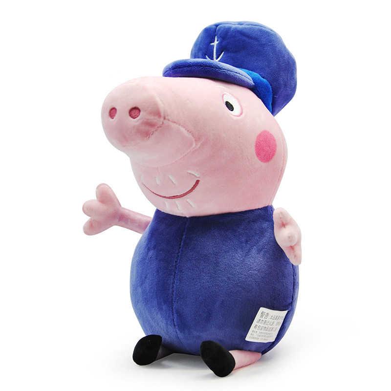 Подлинная Peppa свинья деды grandmather 30 см Kawaii Плюшевые животного Постельные принадлежности спальный pillowbirthday дети Рождество Игрушечные лошадки подарок для девочки