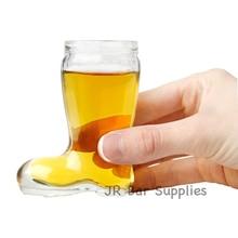 Набор из 6 сапог, прозрачные очки для питья, виски, ликер, вечерние, 2 унции, пивной Сапожок, Das Boot