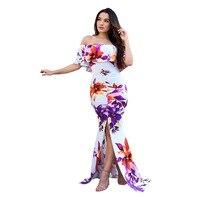 Летние Последняя Мода 2017 Соблазнительное женское платье с коротким рукавом Русалка Элегантное Длинное платье оптовая продажа l5111
