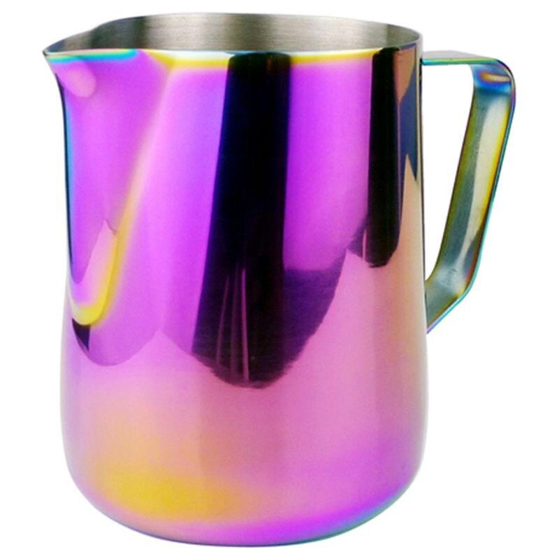 Milk Jug Stainless Steel Frothing Pitcher Pull Flower Cup Coffee Milk Frother Latte Art Milk Foam Tool Coffeeware-600Ml