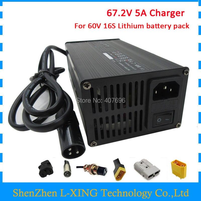60 V Au Lithium batterie Chargeur Sortie 67.2 V 5A chargeur utiliser pour 16 S 60 V 20AH 30AH 50AH batterie pack 67.2V5A Chargeur Livraison gratuite