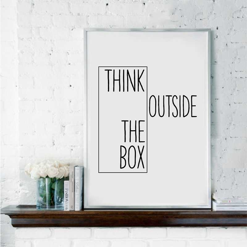 Motivational Painting Creative Decor Think Outside The Box Home