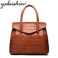 YABEISHINI 2018 Large Capacity Women Handbags Leather Totes Luxury Brand Ladies Shoulder Bags Fashion Crossbody Bag Sac A Main