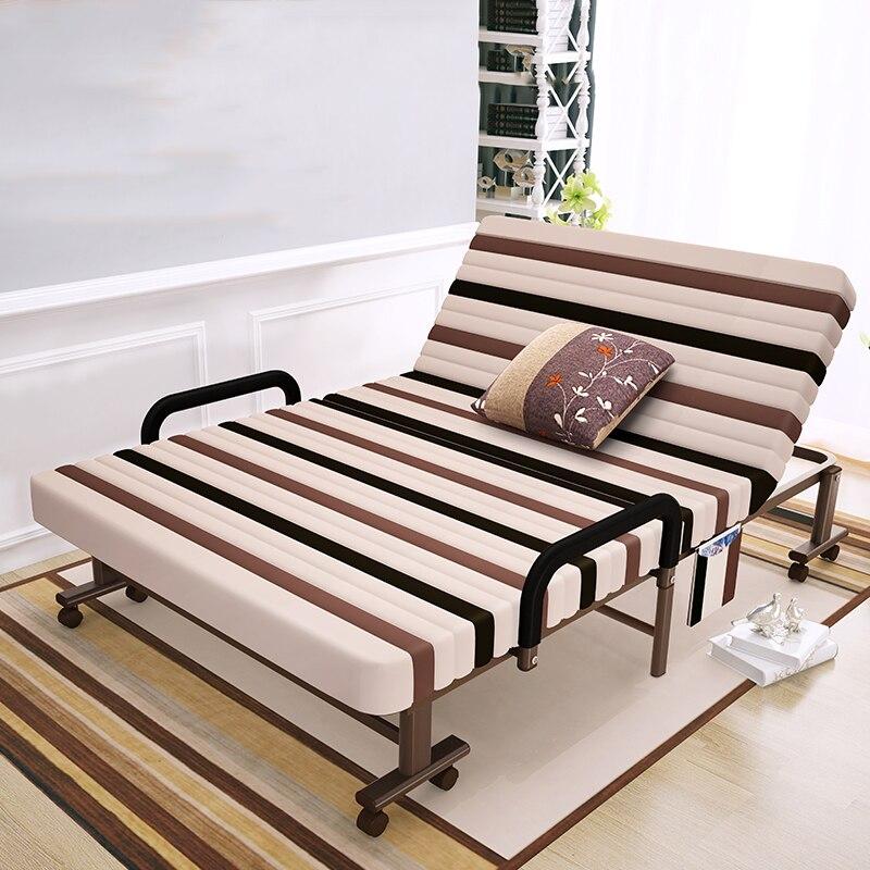 2 человека металлический каркас складная кровать с регулируемой спинкой идеальный шезлонг для домашнего офиса Nap Портативный Крытый/улична