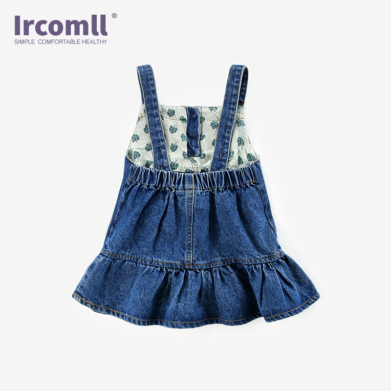 24f7ee215 Ircomll Newest Baby Girls Jeans Mini Dress Strap Kids Denim Cute Ruffles  Crown Overalls Summer Jumper Dresses Toddler Clothes