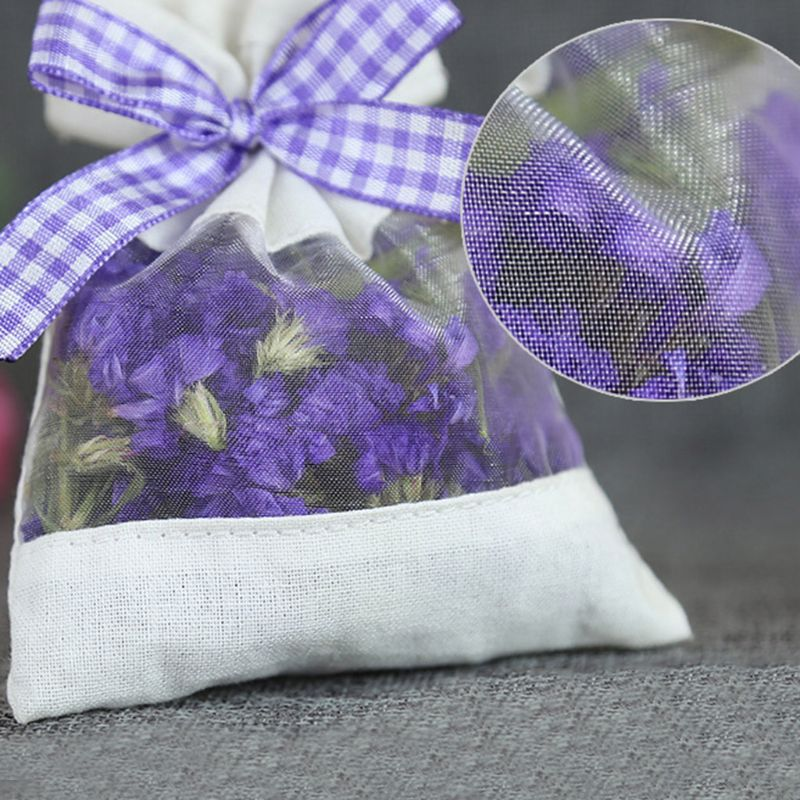 Dry Flowers Seeds Spice Herbs With Ribbon Home Fragrance Sachets Empty Bag Cotton Fabric Bag Gauze Bags For Storage