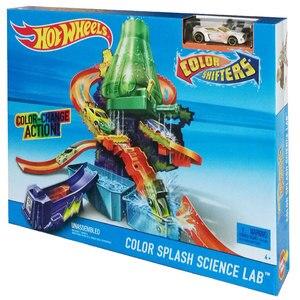 Image 5 - Hot Wheels New City Electric Car Track Volcano Escape Theme Raceway Challenge Toy Car Set for Children Boys Oyuncak Araba FTD61