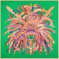 Tamaño: 130*130 cm Caliente! sarga de Seda bufandas de las señoras 2017 nuevo encanto corona de plumas de Indio de impresión digital de las mujeres de gran tamaño bufandas de seda