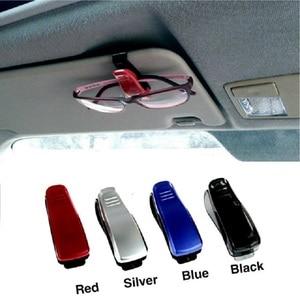 Image 1 - Luxus Auto Brillen Halter Clip Sonnenbrille Halter Rahmen Universal Auto Styling Gläser Clip Autos Zubehör