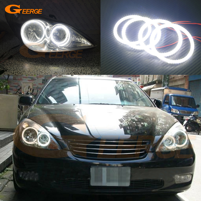 For Toyota Windom MCV30 2001 2002 2003 Excellent DRL Ultra bright illumination smd led Angel Eyes kit Halo Ring for alfa romeo 147 2000 2001 2002 2003 2004 halogen headlight excellent ultra bright illumination ccfl angel eyes kit halo ring