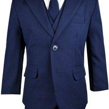 Дизайнерский однотонный костюм для мальчиков, строгий наряд с галстуком, костюмы для мальчиков на заказ, костюмы для конкурсов красоты(пиджак+ жилет+ брюки+ галстук