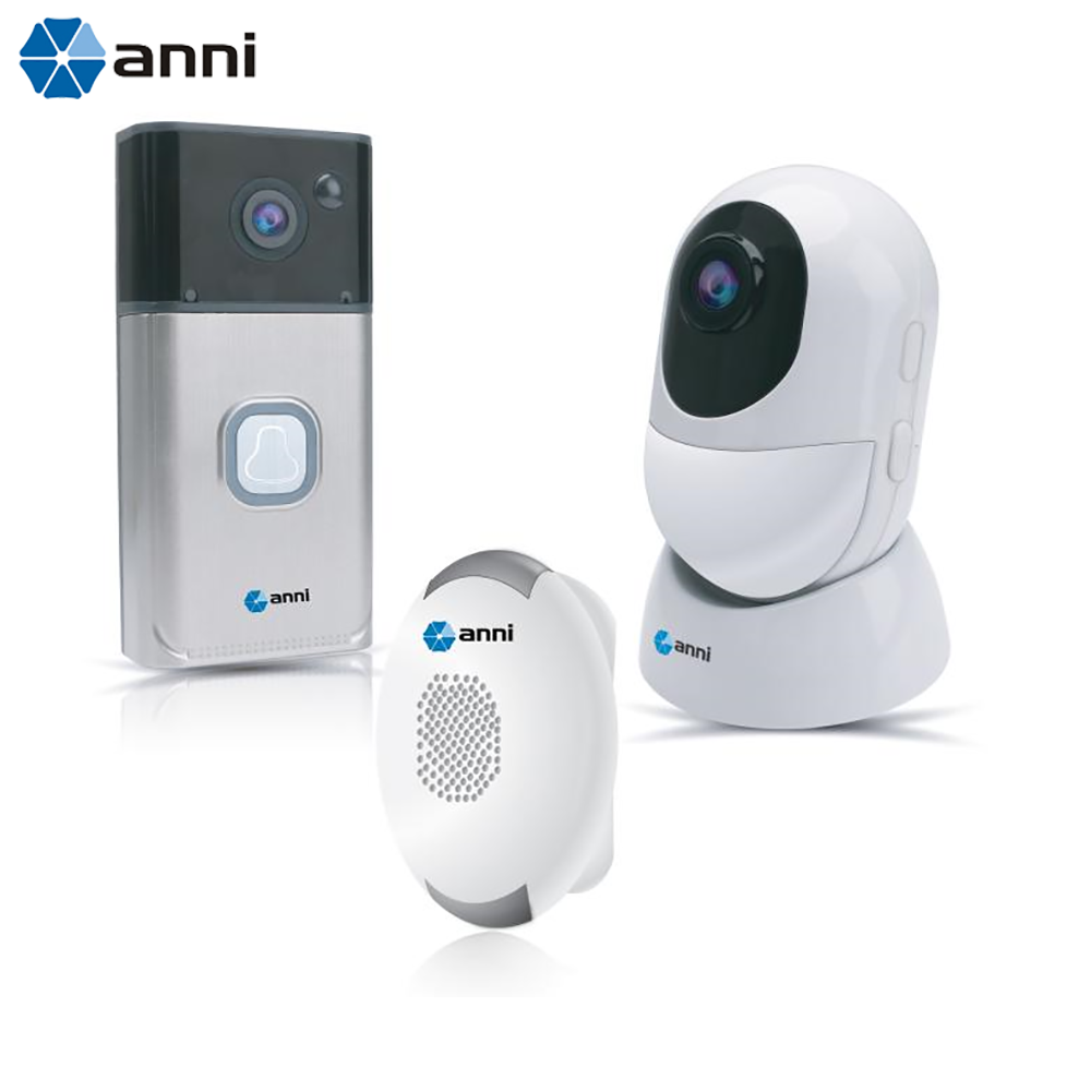 Anni HD Smart Wi-Fi Video Doorbell & Battery Camera Kit with Two-Way Audio, Motion Detection, Android and iOS App Support(China)