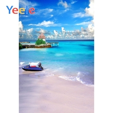 Yeele Tropical View Seaside Vacation Wedding Portrait Photography Backdrops Beach Wave Photographic Backgrounds For Photo Studio