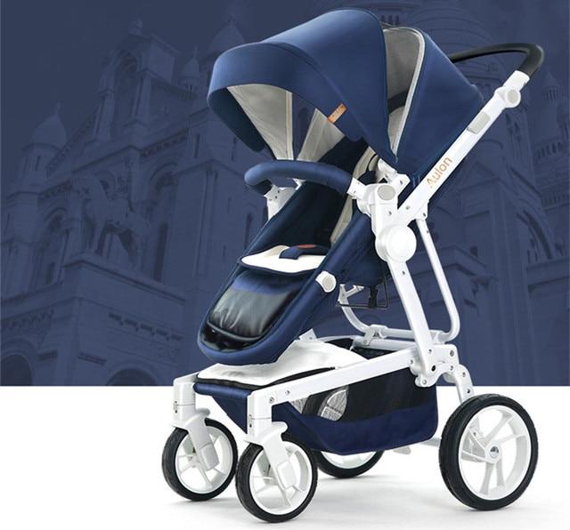 Four Wheels Stroller High baby stroller sitting lying folded two-way four-wheel shock absorber baby stroller Baby Stroller