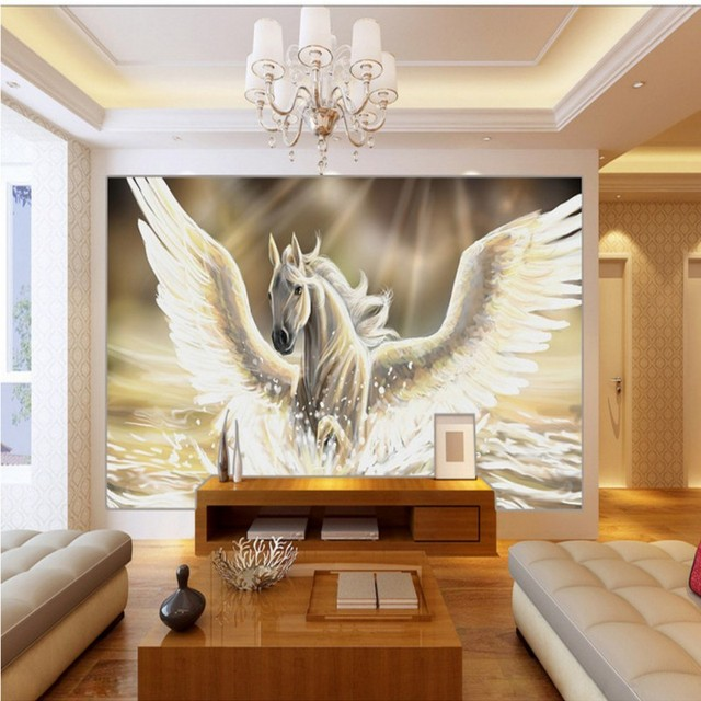 Photo Wallpaper Pegasus Oil Painting Background Wallpaper Bedroom Bedroom  Living Room Hall Decorative Mural