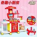 Nuevos Niños de la Llegada Luces de la Casa del Juego de La Cocina de Cocina de Simulación de Juguetes Rompecabezas Al Por Mayor de Utensilios de Cocina de juguete de la educación temprana