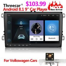 Car DVD GPS android 8.1 Player 2din radio universal Wifi GPS Navigation Audio For Skoda Octavia Fabia Rapid Yeti Superb VW Seat