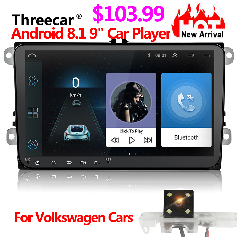 Car DVD GPS android 8.1 Player 2din radio universal Wifi GPS Navigation Audio For Skoda Octavia Fabia Rapid Yeti Superb VW Seat