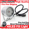 Free shipping 48LED Illuminator IR Infrared dome CCTV camera hd Night enhancement Fill light Vision 40M Lamp Securit 850nm 12V