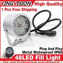 Free shipping 48LED Illuminator IR Infrared dome CCTV camera hd Night enhancement Fill light Vision 40M Lamp Securit 850nm 12V