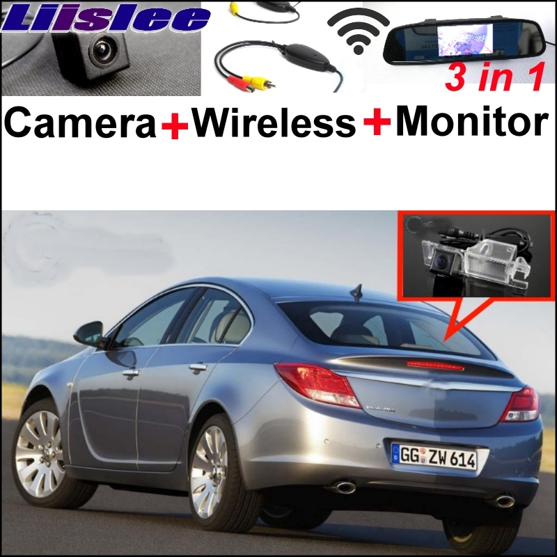 Liislee 3 in1 Special WiFi Camera + Wireless Receiver + Mirror Monitor EASY Backup Parking System For Opel Insignia 2009~2017 liislee wifi wireless ccd camera